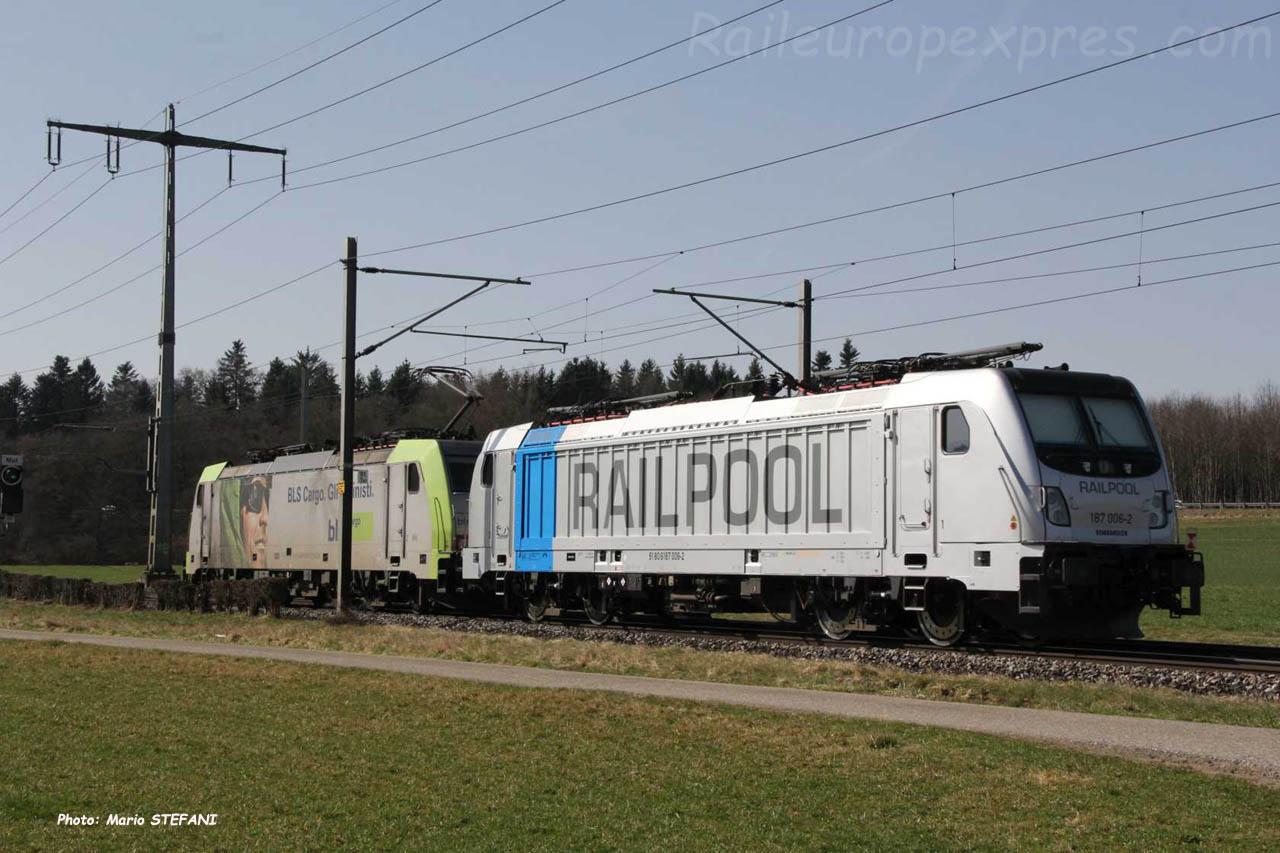 187 006-2 Railpool à Mattstetten (CH)