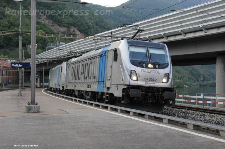 187 006-2 Railpool à Melide (CH)