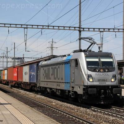 187 006-2 Railpool à Pratteln (CH)