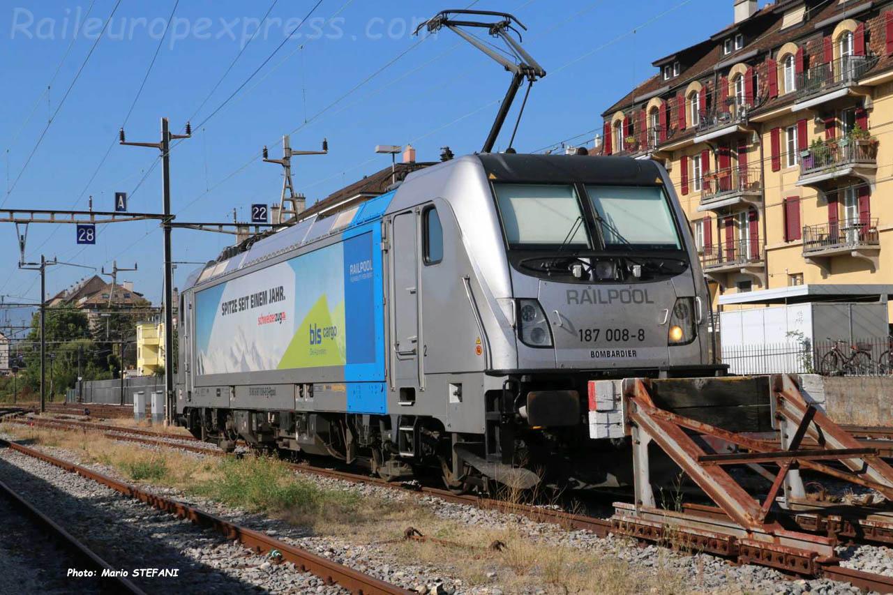 187 008-8 BLS à Neuchâtel (CH)