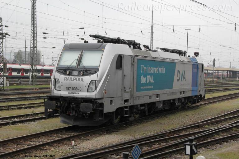 187 008-8 Railpool à Basel (CH)