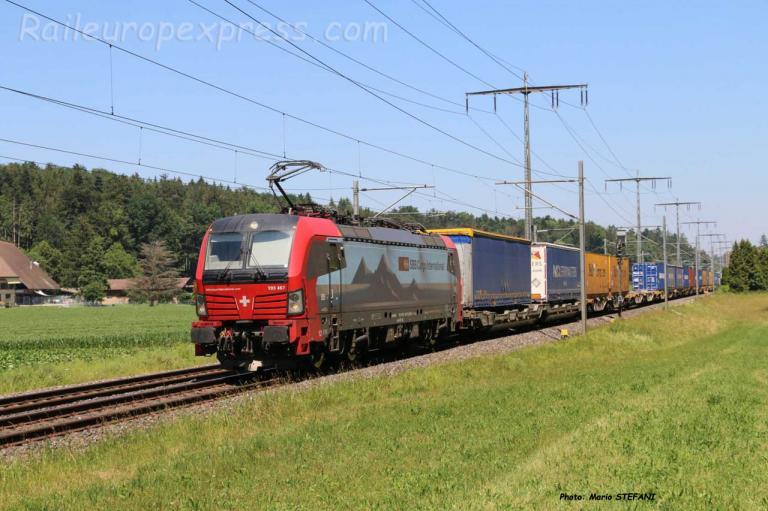193 467 CFF à Hindelbank (CH)