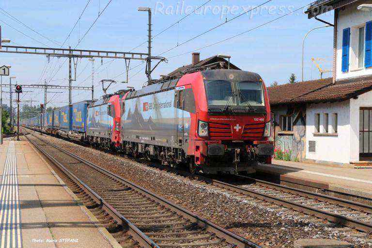 193 468-6 à Hindelbank (CH)