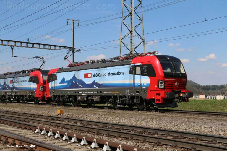 193 470-2 CFF à Hendschiken (CH)