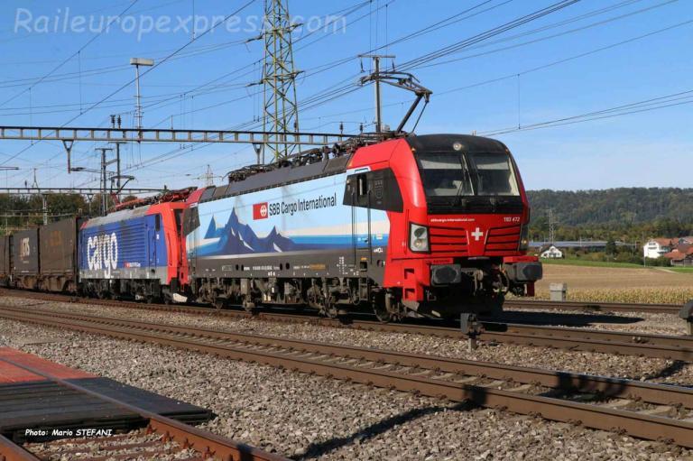 193 472 CFF à Henschiken (CH)
