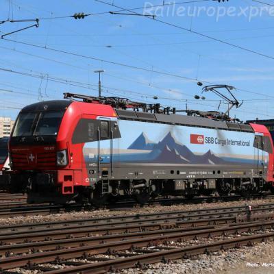 193 477-7 CFF à Basel Bad (CH)