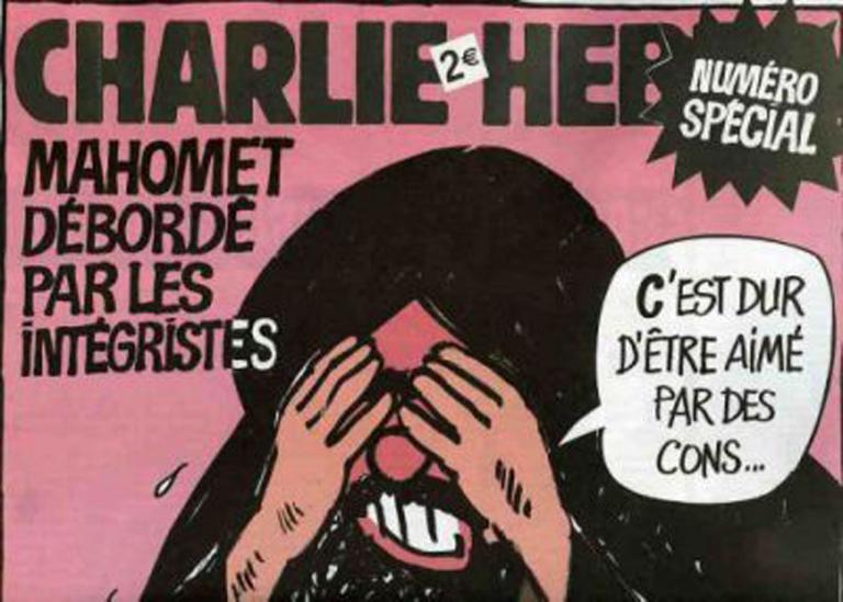 En soutien aux victimes de Charlie Hebdo lâchement assassinées.