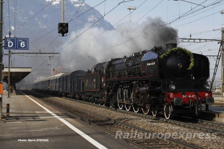 241 A 65 SNCF à Arth Goldau
