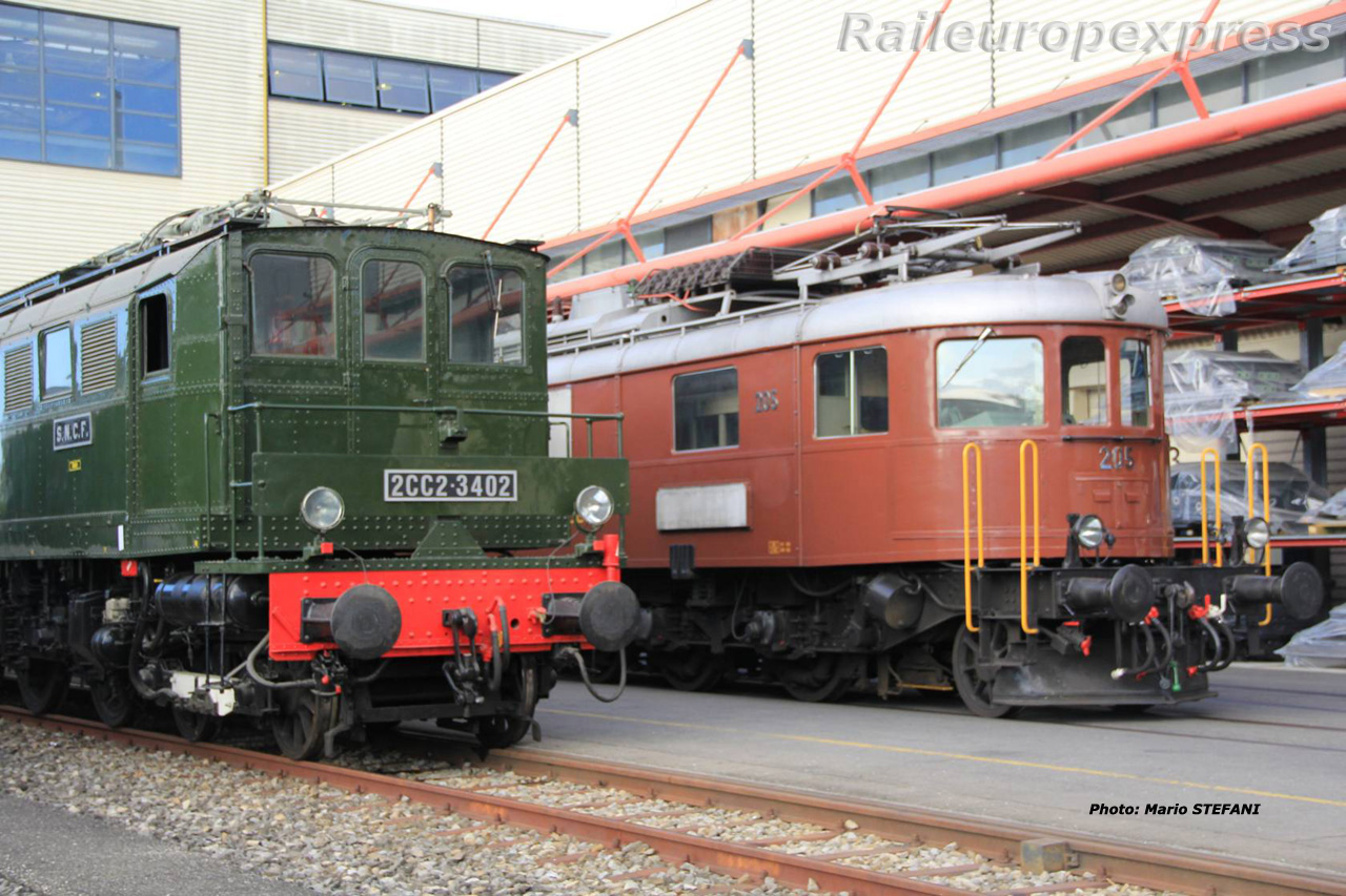2CC2 3402 SNCF et Ae 6/8 205 BLS à Genève (CH)