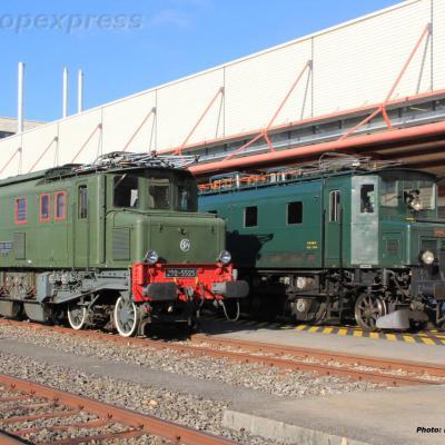 2D2 5525 SNCF et Ae 4/7 10976 CFF à Genève (CH)
