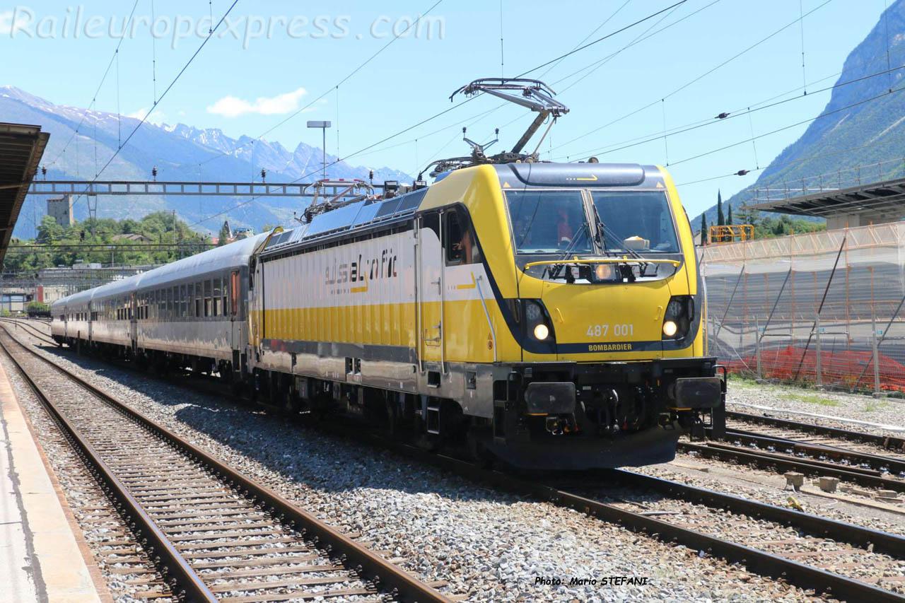 487 001-0 BLS à Sierre (CH)
