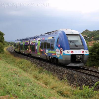 XGC 76767 SNCF près d'Arvant (F-43)