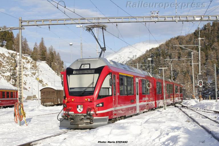 ABe 812 RhB à Saint Moritz (CH)