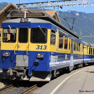 ABeh 4/4 II 313 BOB à Wilderswil (CH)