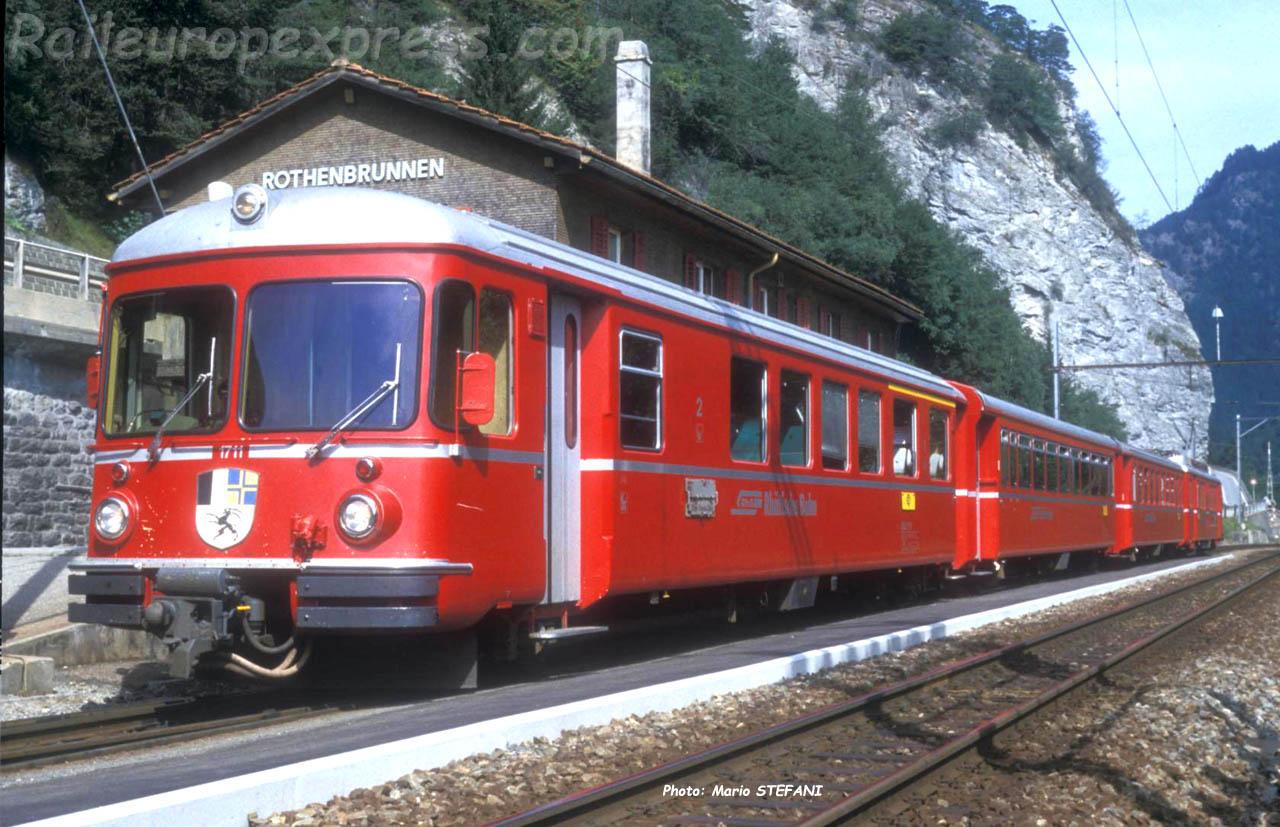 ABt 1711 RhB à Rothenbrunnen (CH)