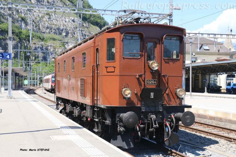Ae 3/6 III 10264 CFF à Saint Maurice (CH)