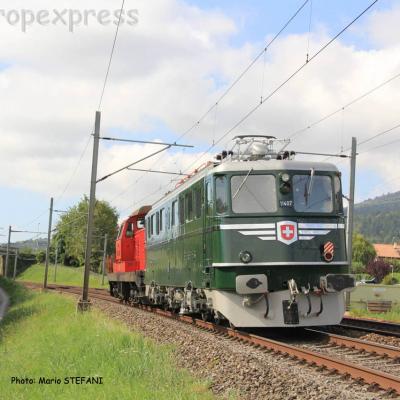 Ae 6/6 11407 CFF à Boudry (CH)