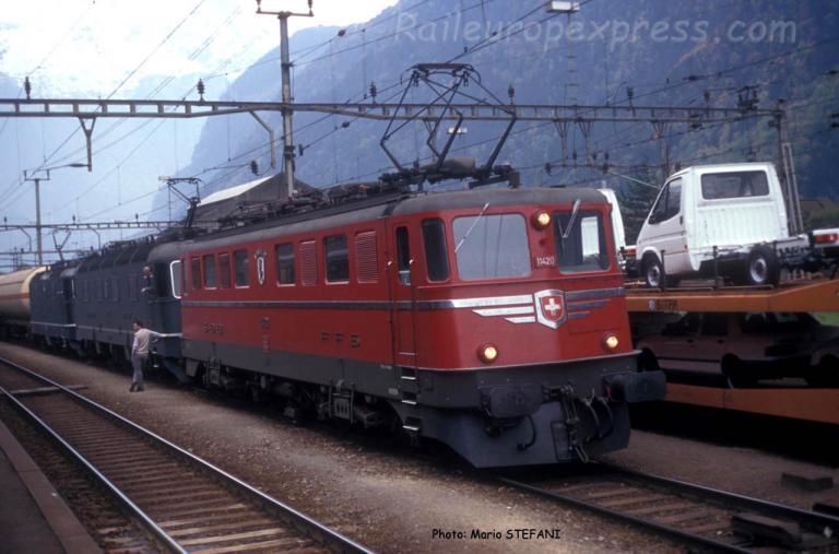 Ae 6/6 11420 CFF à Erstfeld (CH)