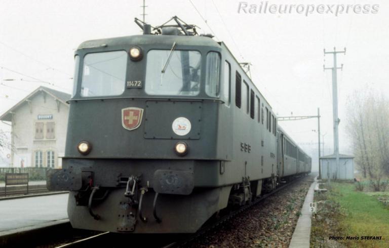 Ae 6/6 11472 CFF à Boudry (CH)