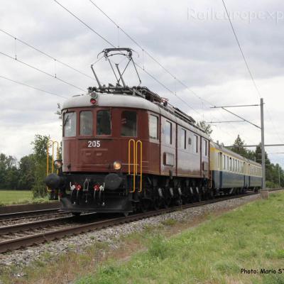 Ae 6/8 205 BLS à Boudry (CH)