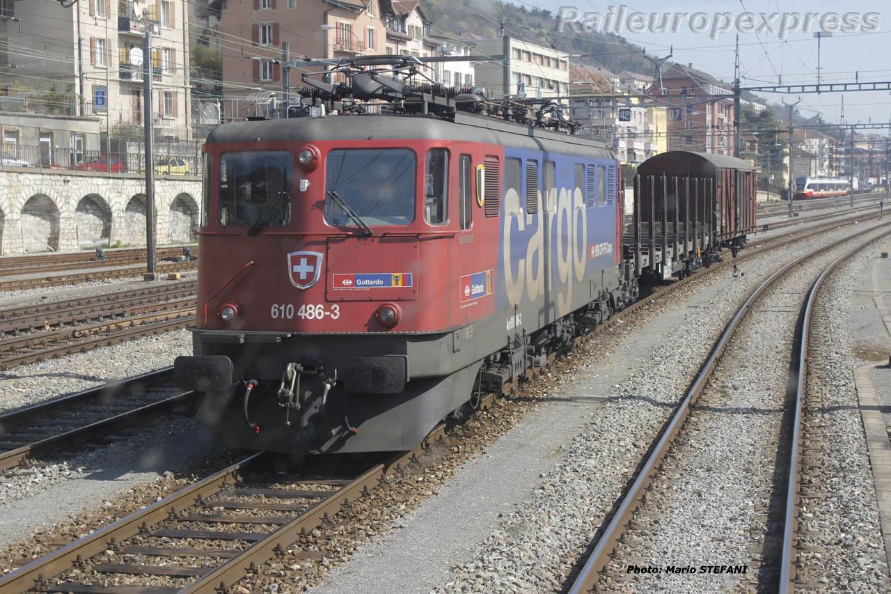 Ae 610 186-3 CFF à Neuchâtel (CH)