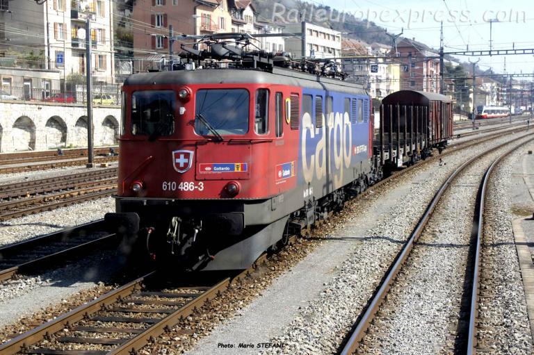 Ae 610 486-3 CFF à Neuchâtel (CH)