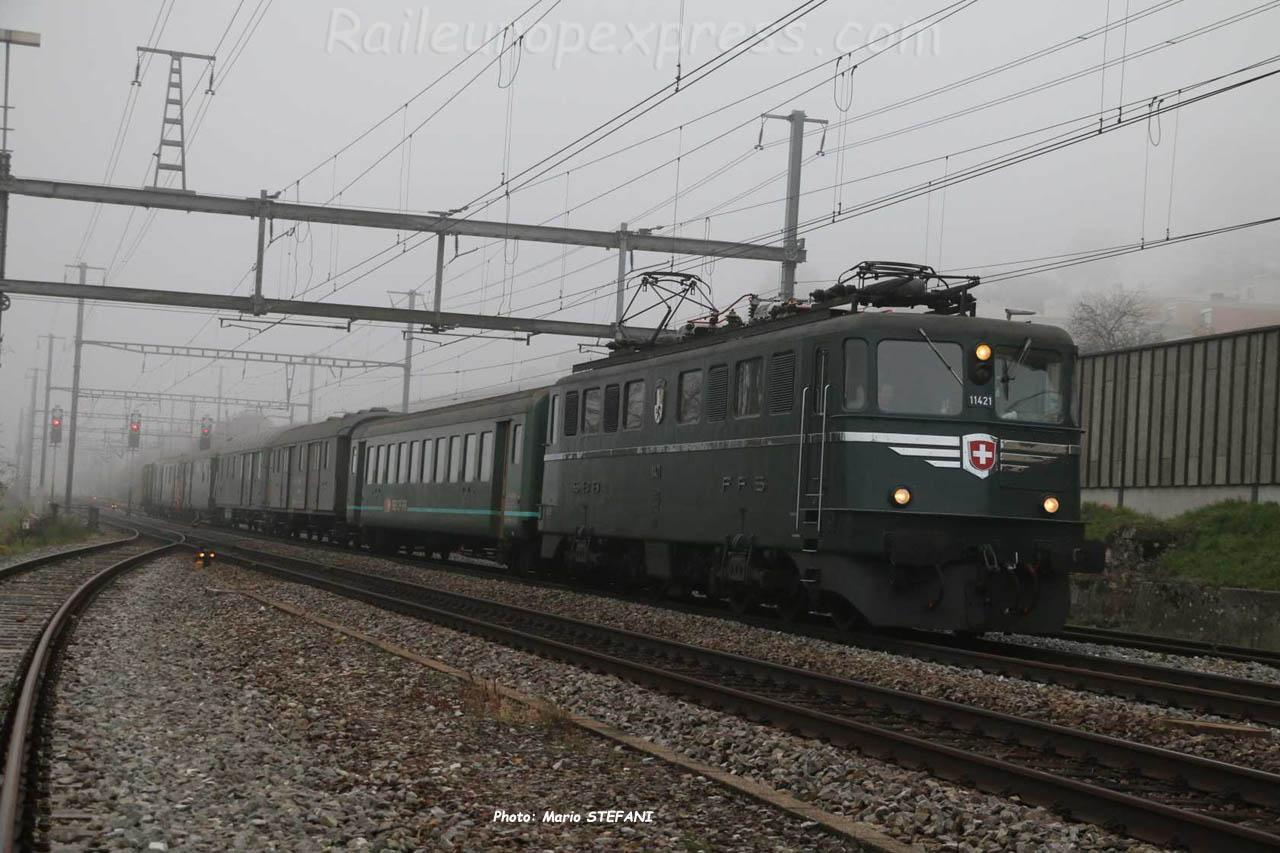 Ae 6/6 11421 CFF à Auvernier (CH)