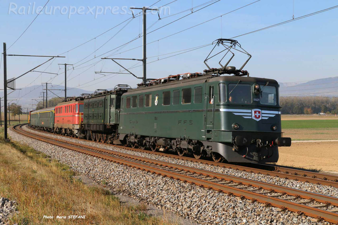Ae 6/6 11421 CFF à Ependes (CH)