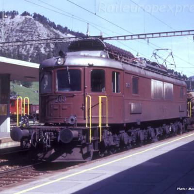 Ae 6/8 203 BLS à Kandersteg (CH)