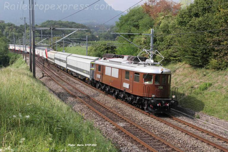 Ae 6/8 208 BLS à Boudry Planeyse (CH)