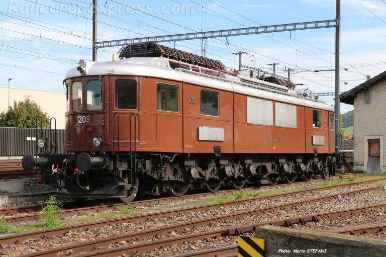 Ae 6/8 208 BLS à Sissach (CH)