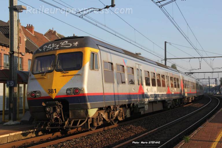 AM 381 SNCB à Bilzen (B)