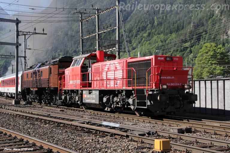 Am 843 014-2 CFF à Erstfeld (CH)