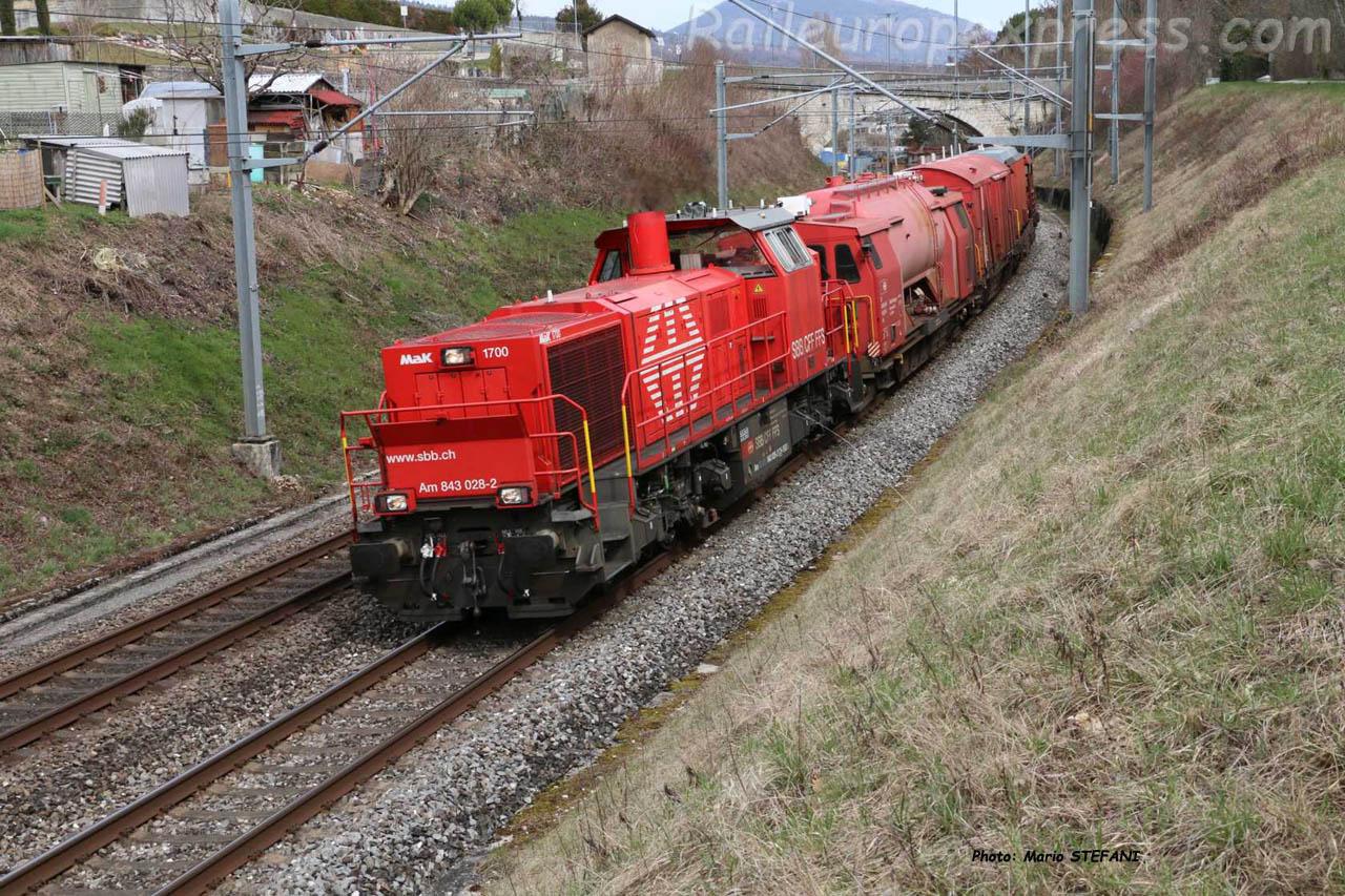Am 843 028-2 CFF à Boudry (CH)