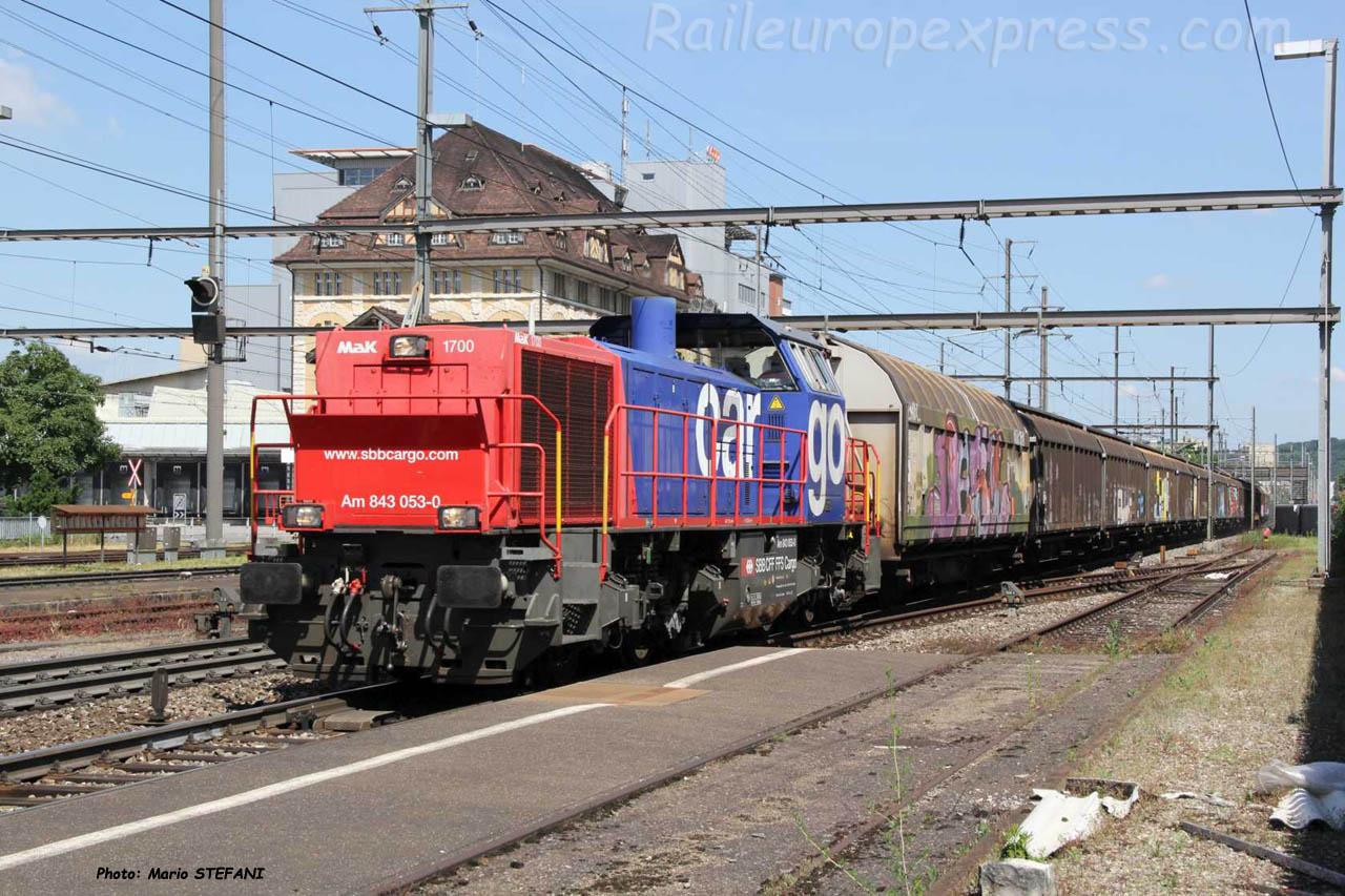 Am 843 053-0 CFF à Pratteln (CH)