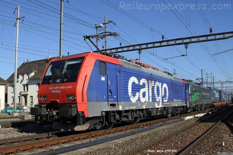 Re 474 002 CFF à Pratteln (CH)