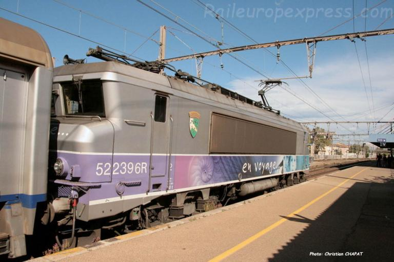 BB 22396 SNCF à Miramas (F-13)