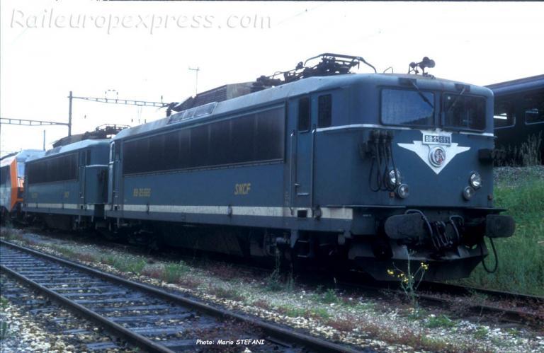 BB 25665 SNCF à Vallorbe (CH)