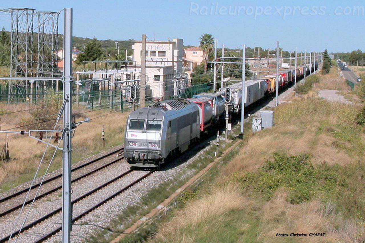 BB 26105 SNCF à Mireval (F-34)