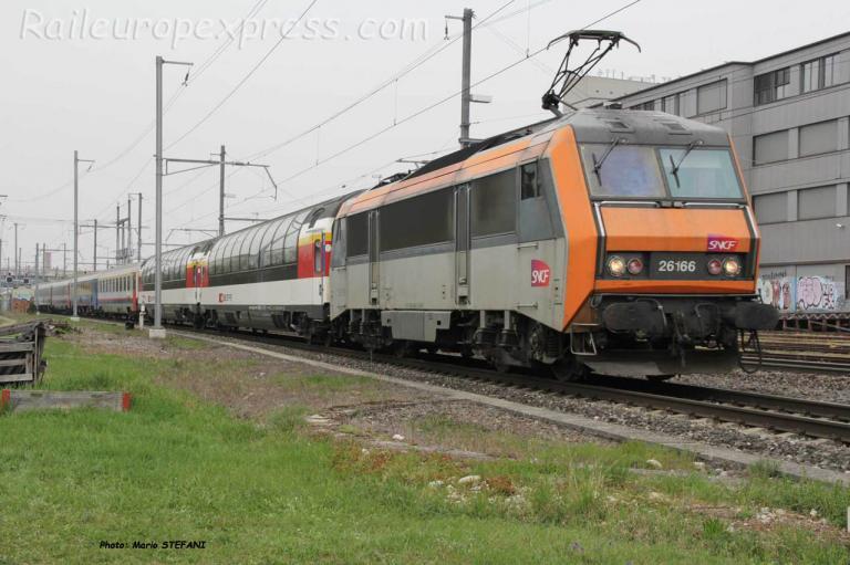 BB 26166 en tête du dernier Vauban à Basel (CH)