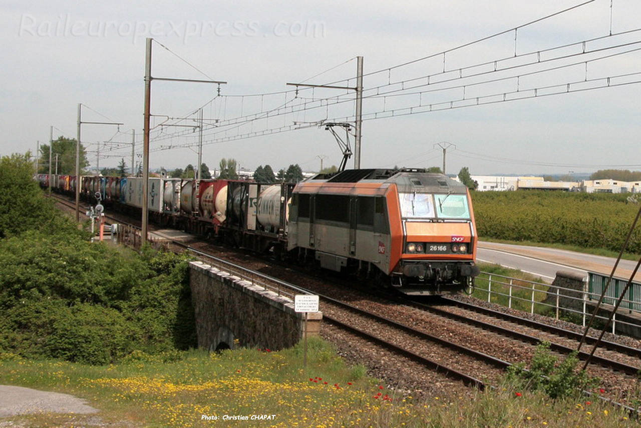 BB 26166 SNCF à Andance (F-07)