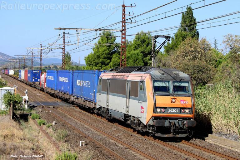 BB 26204 SNCF à Conilhac Corbières (F-11)