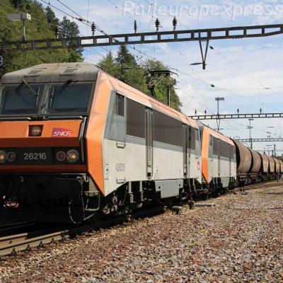 BB 26216 SNCF à Vallorbe (CH)