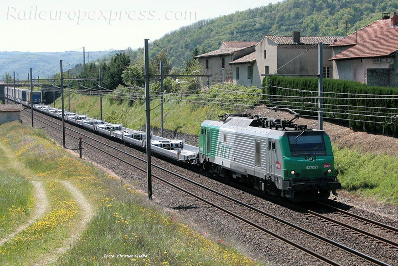 BB 27027 SNCF à Saint Bosc (F-07)