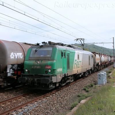 BB 27089 SNCF à Andance (F-07)