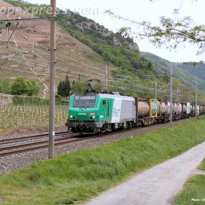 BB 27104 SNCF à Châteaubourg (F-07)