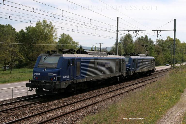 BB 27129 Régiorail à Andance (F-07)