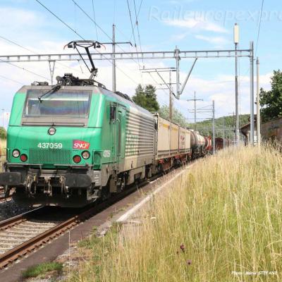 BB 37059 SNCF à Perroy (CH)