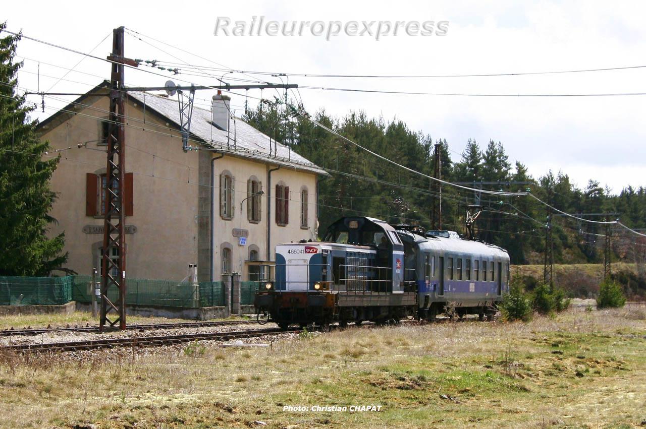 BB 66041 SNCF à Saint Sauveur de Peyre (F 48)