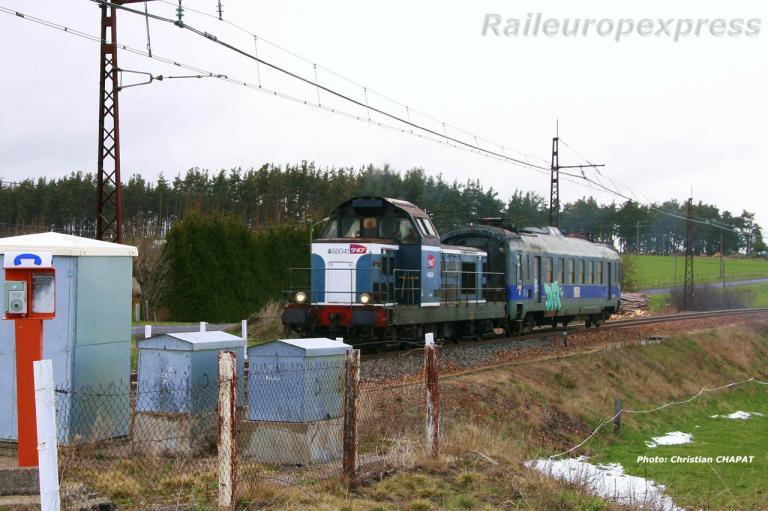 BB 66041 SNCF à Loubaresse (F 15)